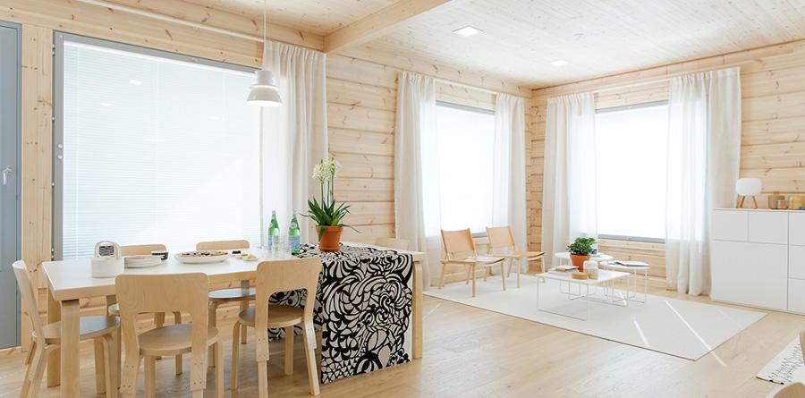 Construction maison bois kontio aquitaine midi pyr n es for Interieur d une maison