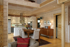 interieur maison bois massif. Black Bedroom Furniture Sets. Home Design Ideas