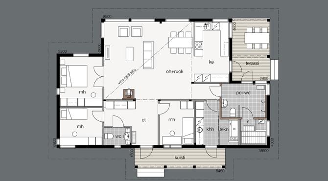 Connu Modèles et plans de la maison bois : Aurinkometsä | Kontio  JR11