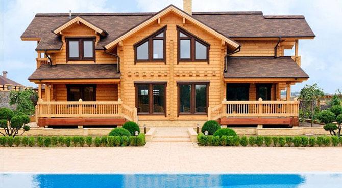 Mod les et plans de la maison bois lobelia kontio for Maison en bois modele