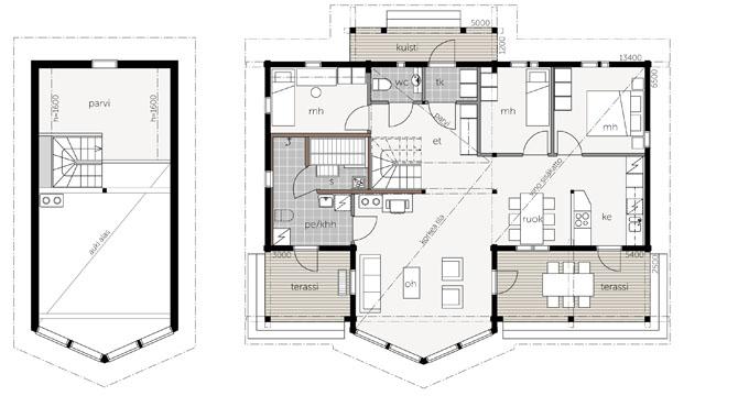 Super Modèles et plans de la maison bois : Lumo | Kontio Aquitaine Midi  SV39