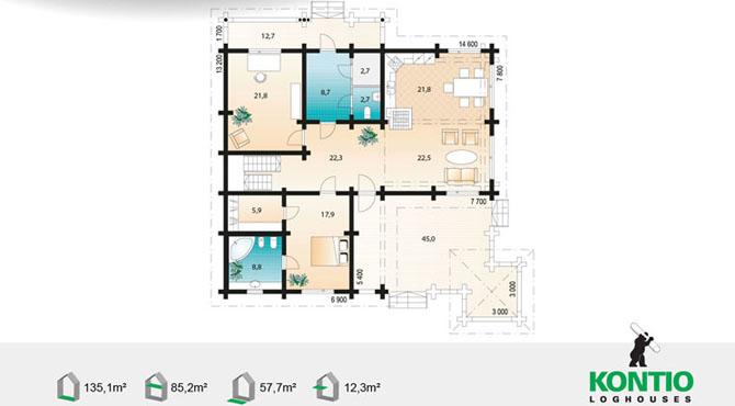 mod les et plans de la maison bois pinus kontio aquitaine midi pyr n es. Black Bedroom Furniture Sets. Home Design Ideas