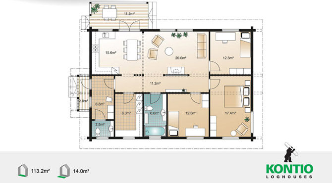 Plan maison : Scandium LEO 113 photo 9