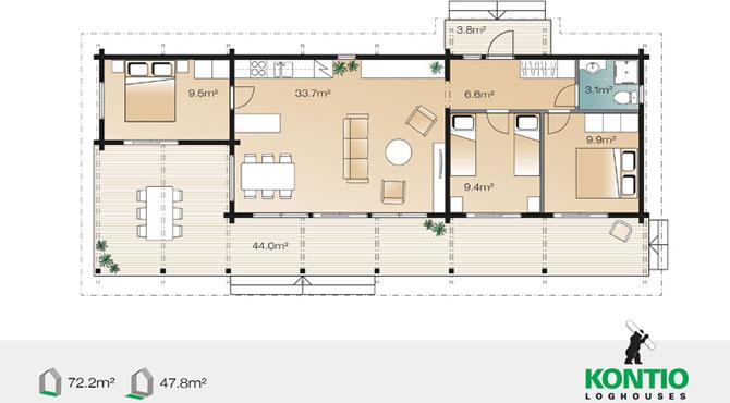 Mod les et plans de la maison bois serenus mhy 72 for Plans de maison en bois de hanley